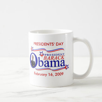 Day Keepsake Coffee d'Obama des Présidents Mug Blanc