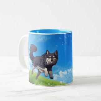 Day mug - finlandais Lapphund contents