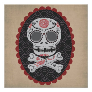 Day of the Dead Skull Día de los Muertos calaveras Posters