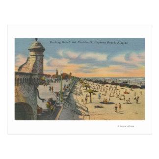 Daytona Beach, FL - vue de promenade de plage Carte Postale