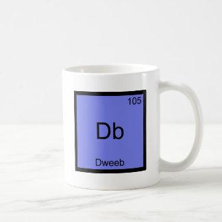 DB - Pièce en t drôle de symbole d'élément de Mug Blanc