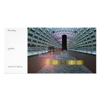 DC de Washington et le souterrain de métro Photocarte Customisée