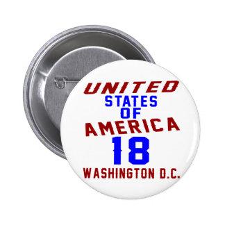 DC des Etats-Unis d'Amérique 18 Washington Badge