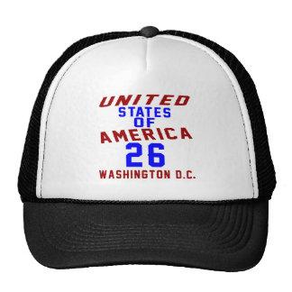 DC des Etats-Unis d'Amérique 26 Washington Casquette De Camionneur