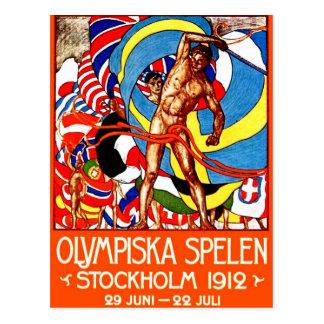 ~ de 1912 Jeux Olympiques d'été (le cru folâtre Carte Postale