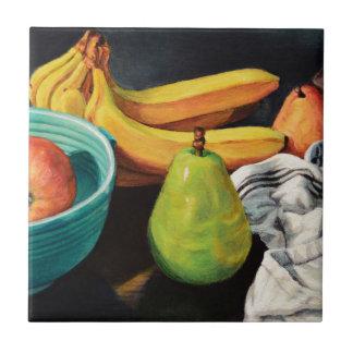 De banane d'Apple de poire toujours la vie Carreau