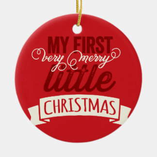 De bébé joyeux petit ornement de photo de Noël