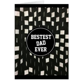 De Bestest de papa fête des pères jamais - Carte De Vœux