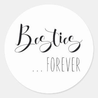 """De """"Besties ami pour toujours"""" Sticker Rond"""
