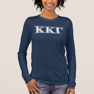 De bleu blanc de Kappa de Kappa lettres gamma et T-shirt À Manches Longues