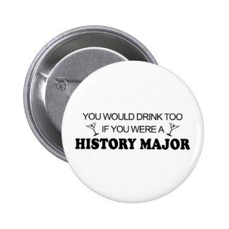 De boissons commandant d'histoire trop - badge avec épingle