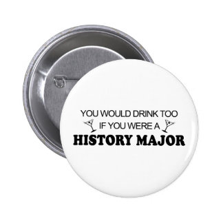 De boissons commandant d'histoire trop - badge rond 5 cm