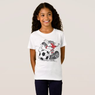 T-shirt fille BUGS BUNNY™ jouant au football
