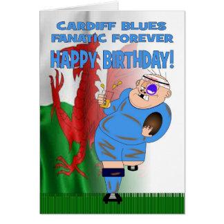 De Cardiff Blues de fanatique carte d'anniversaire