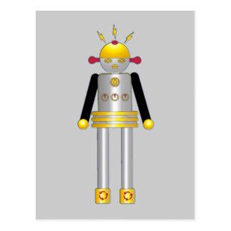 © de carte postale de robot de fille de Martzkins