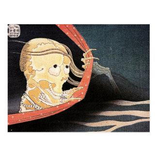 "De carte postale squelettique ""étrange de Hokusai"""