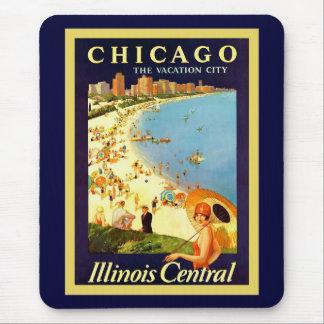 ~ de Chicago le voyage vintage de ~ de ville de Tapis De Souris