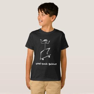 De comportement humain étrange badine le T-shirt