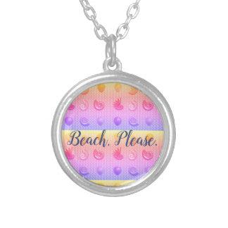 De coquillage de plage pendentif lumineux