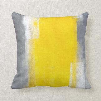 """De """"costume coussin gris et jaune"""" d'art abstrait"""