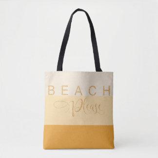 De coucher du soleil de sables de plage tote bag