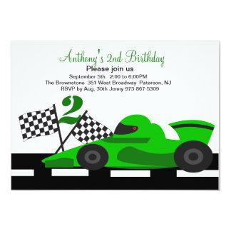 anniversaire voiture course 2 me cartes invitations photocartes et faire part anniversaire. Black Bedroom Furniture Sets. Home Design Ideas