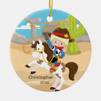 De cowboy ornement mignon de Noël de garçon à