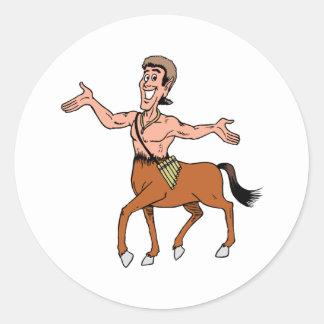 De créature de cheval de demi d'homme mythique de sticker rond