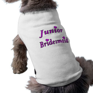 De demoiselle d'honneur amour junior simplement t-shirt pour chien