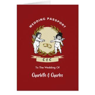 De destination de mariages invitation de passeport