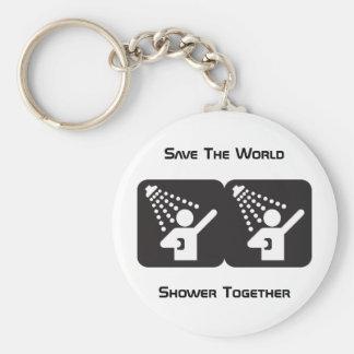 De douche porte - clé ensemble porte-clé rond