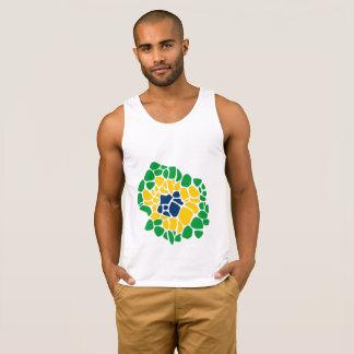 De drapeau de flower power débardeur brésilien de