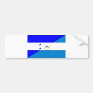 de drapeau de pays du Honduras Nicaragua demi Autocollant De Voiture