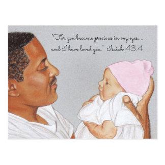 De façon précieuse en ma carte postale d'Eyes~Dad