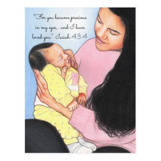 De façon précieuse en ma carte postale d'Eyes~Mom