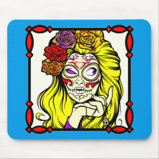 © de FB.com/USAPatriotGraphics de zombi de crâne Tapis De Souris