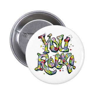 """De fête """"vous roche !"""" Bouton de lettrage Badges"""
