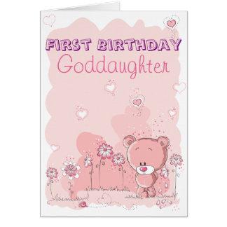 De filleule ęr anniversaire d'abord de parrain carte de vœux