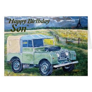 "De ""fils joyeux anniversaire"" de ""FREYA"", carte"