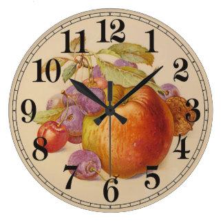 De fruit toujours la vie grande horloge ronde