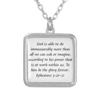 De gloire collier de vers de bible d'Ephesians pou