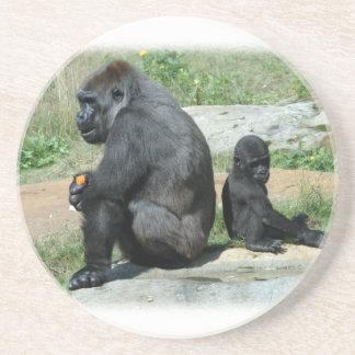 De gorille de temps caboteur dessous de verre