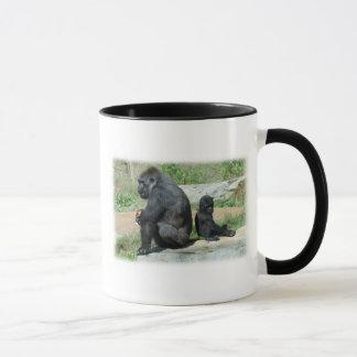De gorille de temps tasse de café