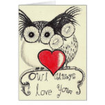 De hibou amour toujours vous cartes de vœux