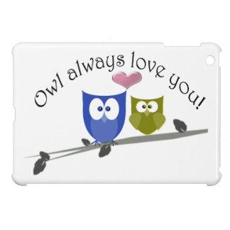 De hibou amour toujours vous, mini cas d'iPad mign Étui iPad Mini