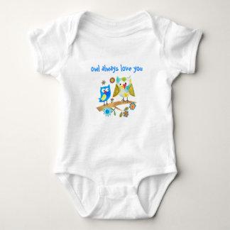 De hibou chemise Vous-Mignonne de nourrissons et Body