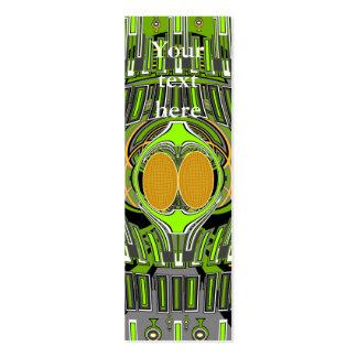De jaune conception verte superfly carte de visite petit format
