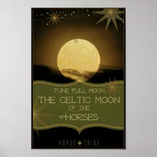 ~ de juin la pleine lune celtique des chevaux posters
