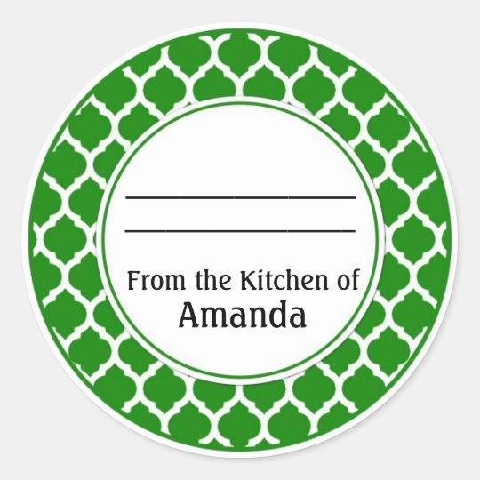 De la cuisine de l'autocollant, faite pour vous sticker rond