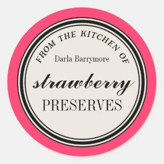 """""""De la cuisine"""" de l'étiquette, conserves de Sticker Rond"""